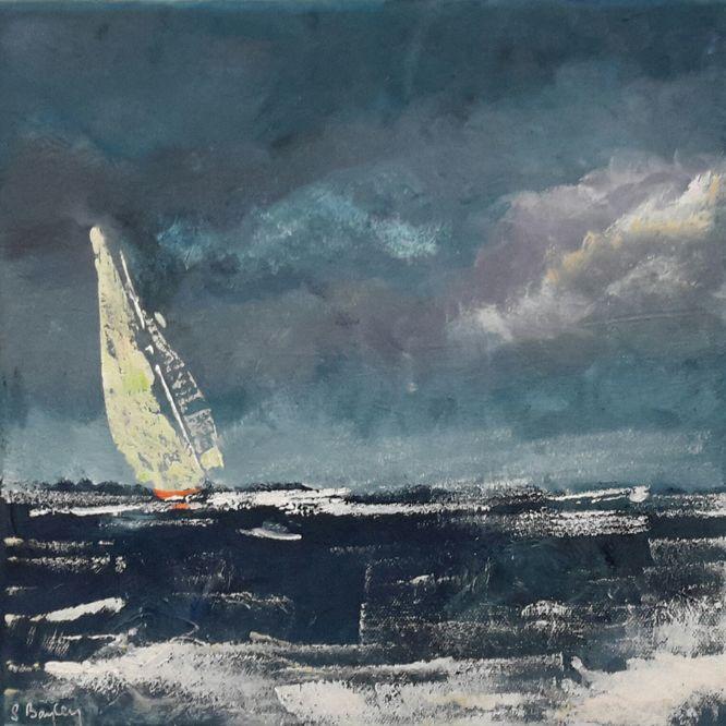 Yacht. Acrylic on canvas 30cm x 30cm