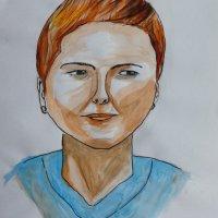 Mina in watercolour A2