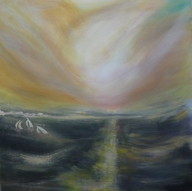 Bay of Biscay, Acrylic on canvas 60cm x 60cm