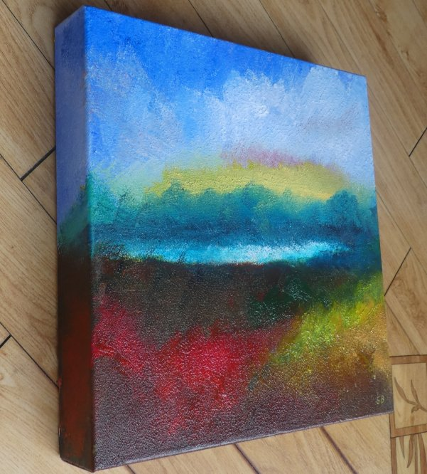 Impressionistic Camphill 2 side, Acrylic on canvas, 30cm x 30cm (Sold)