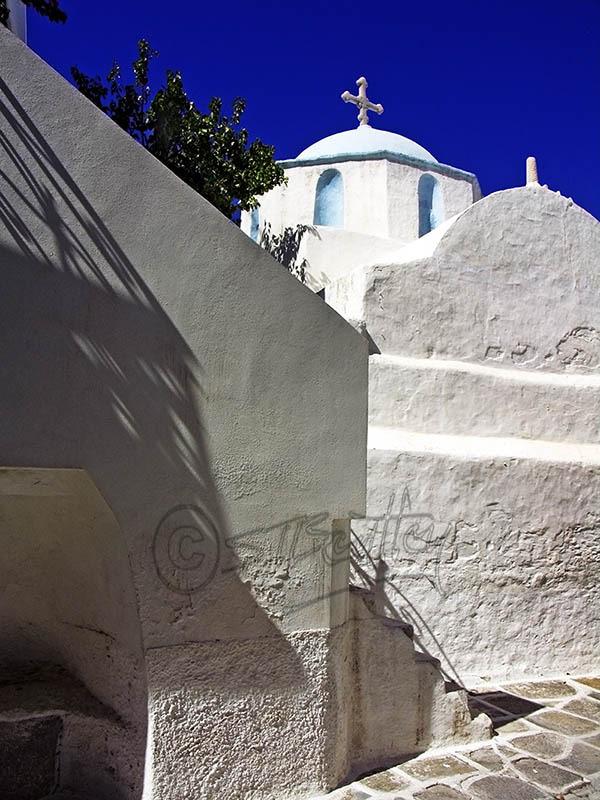 A Church in Paroikia. (a).