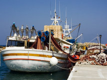 A Fishing Boat in Naousaa (a).
