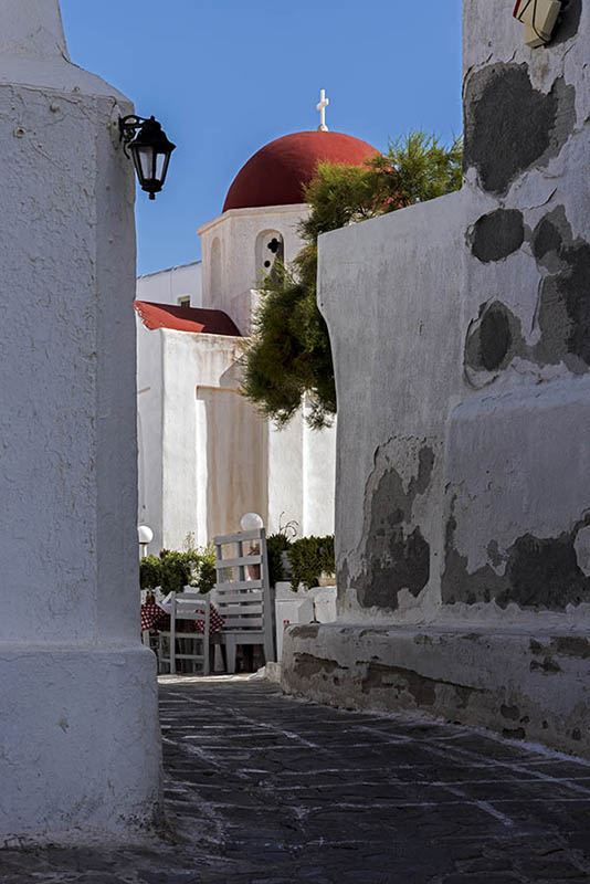 A Small Church in Mykonos Town