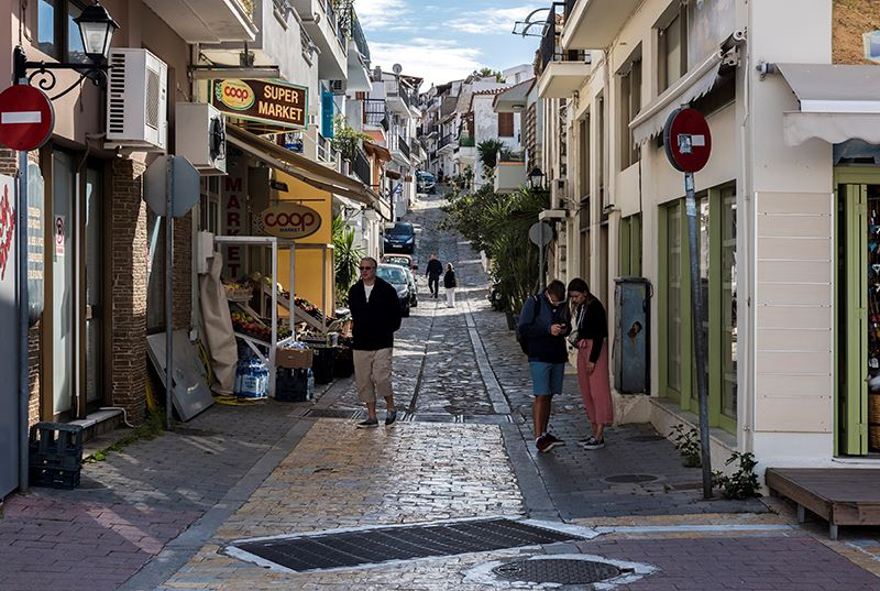 A Street in Skiathos Town