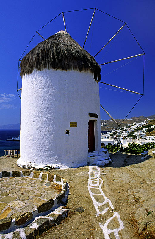 A Windmill in Mykonos Town