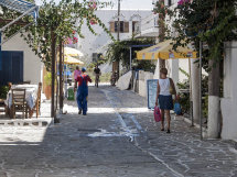 A street in Anti-Paros (b).