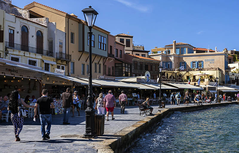 Along the Quayside in Old Chania
