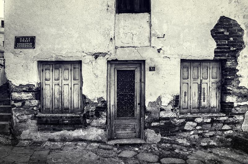An Empty House in Skiathos Town