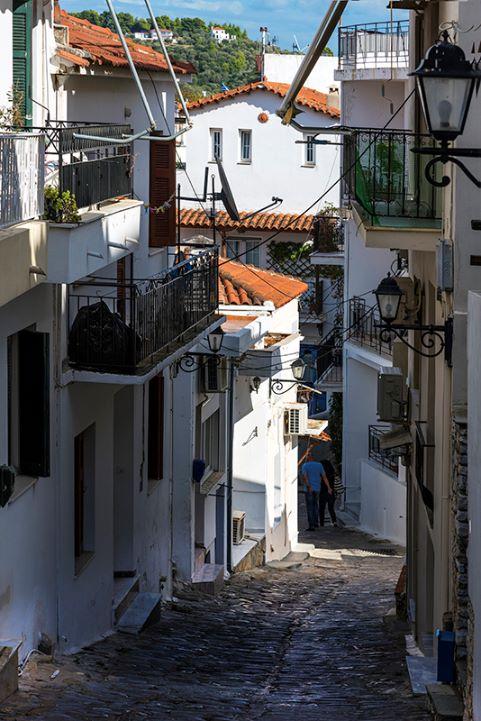 Back Street in Skiathos Town (a)