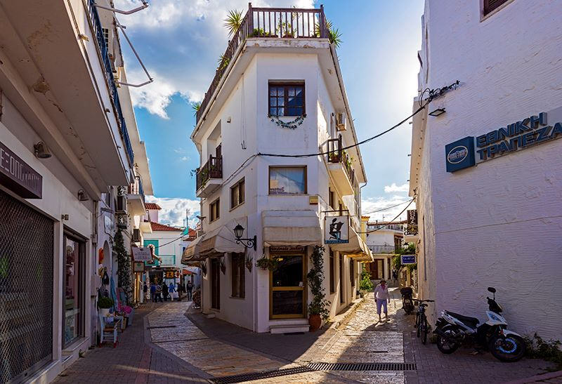 Back Streets in Skiathos Town
