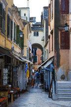 Back street in Corfu Town.