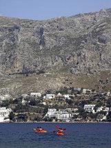 Canoeing near Masouri Beach.