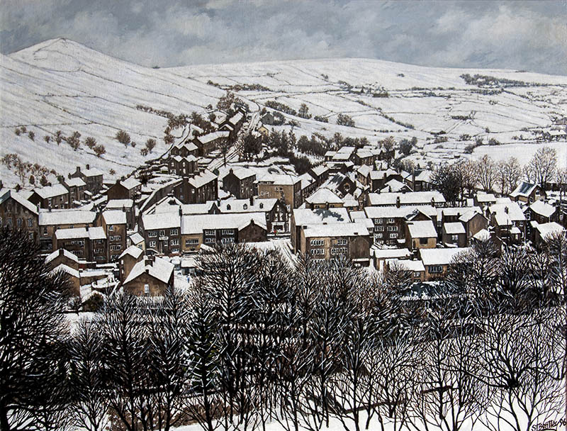 Delph Village in Winter