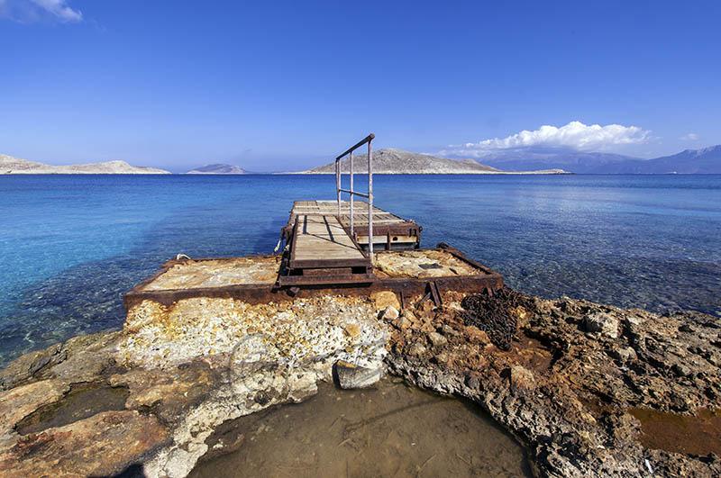 Dock at Ftenagia Beach.