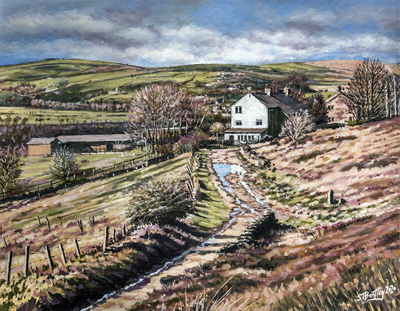Farm path, Greenfield, Oldham