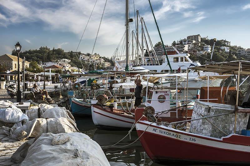 Fishing Boats at Sivota Harbour (b)