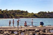 Fishing at Mediterranee Beach, Lassi.