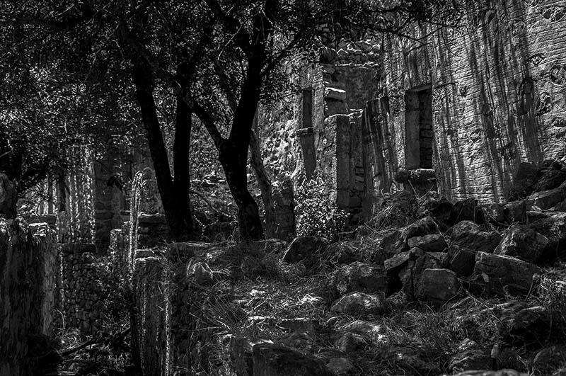 House Ruins at Micro Horio, Tilos.