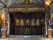 Interior of Evangelistrias Monastery. (a).