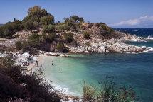 Kassiopi Beach. (b)