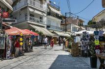 Limenas Town. (d)