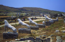 Lion statues at Delos.
