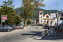 Main Street and Church in Sivota Village