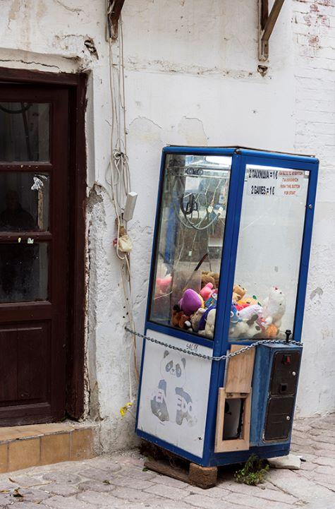 Old Toy Grab Game in Skiathos Town