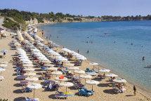 Pefkos Beach. (a).