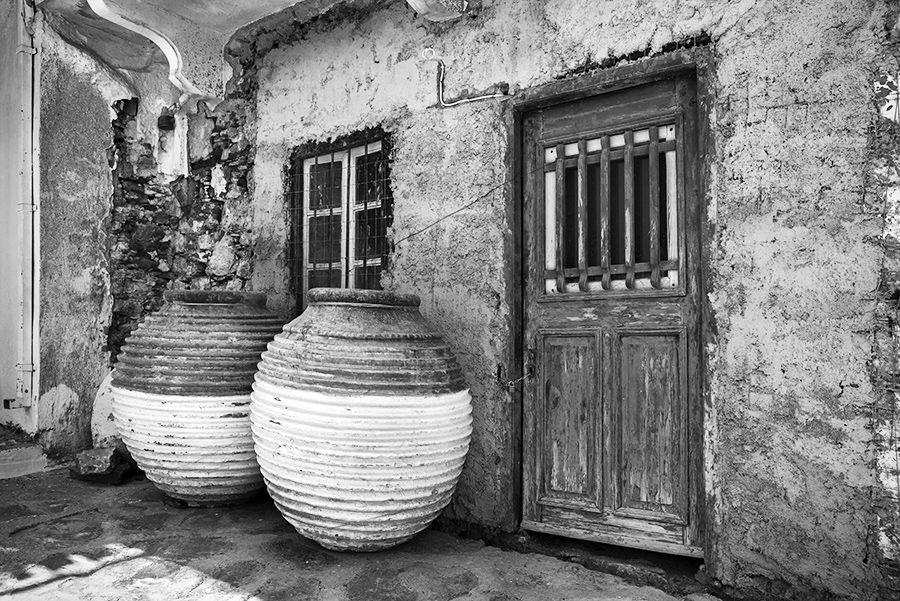 Peloponnesian Koroni Jars in Skopelos Town