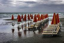 Rainy Day at Agia Marina Beach (a)