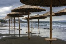 Rainy Day at Agia Marina Beach (b)