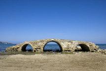 Ruins of Bridge at Argassi Beach.