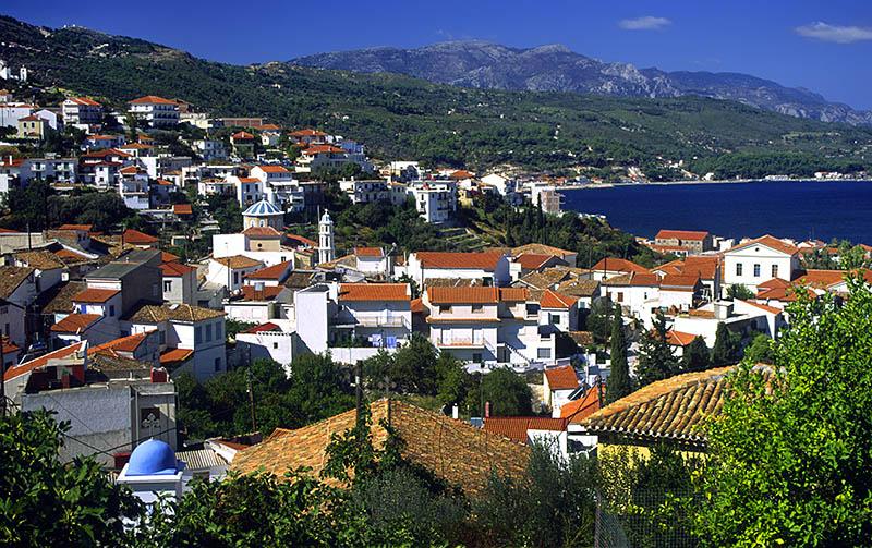 Samos Bay from Old Samos