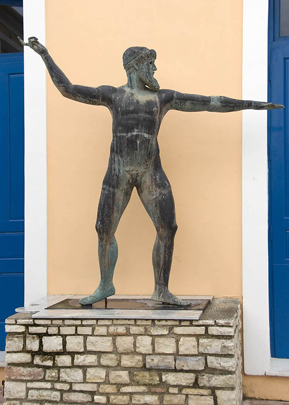 Statue outside the Museum, in Vathi