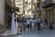 Street Beggar in Corfu Town