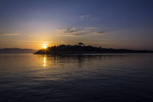Sunrise over Mainland & Panagia from Paxos