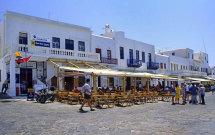 Tavernas at Mykonos Harbour