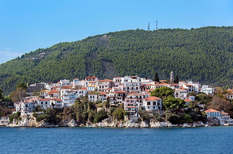 The Edge of Skiathos Town