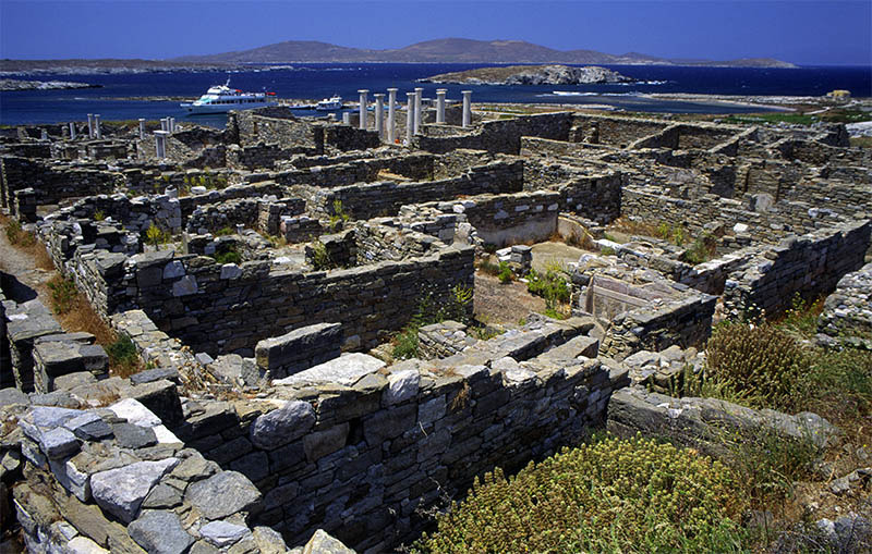The ruins of Delos. (b).