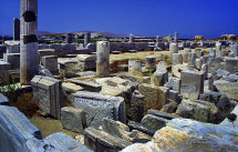 The ruins of Delos. (a).