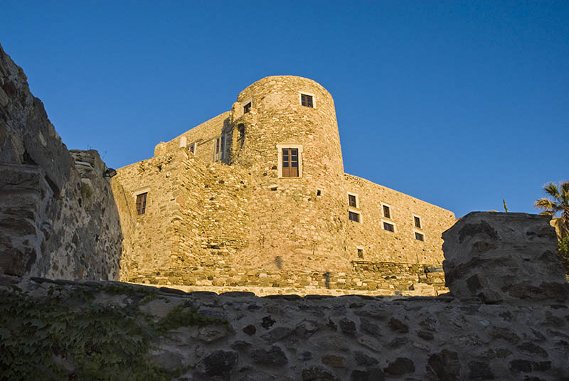 Tower at Kastro Castle, in Naxos Town