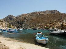 Vathi Harbour. (b).