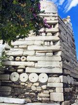 Wall of Frankish Castle in Paroikia.