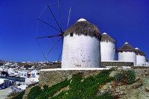 Windmills in Mykonos Town