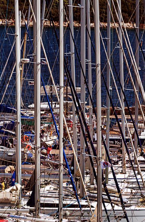 Yatch Masts in Skiathos Harbour