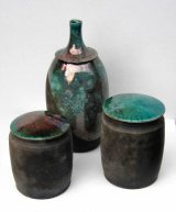02 Raku vessels 8 - 13 cm high £48, £68, £48