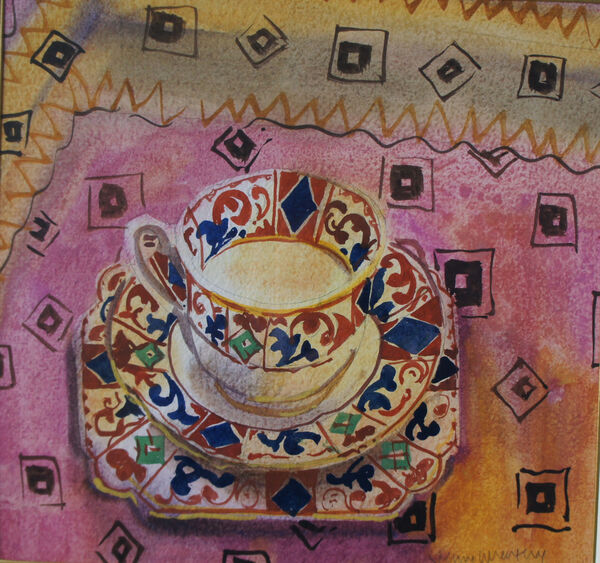 Afternoon Tea 45x48cm inc. frame £1300