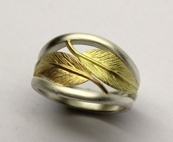 AgAu Feather ring, very fine craftsmanship. £285