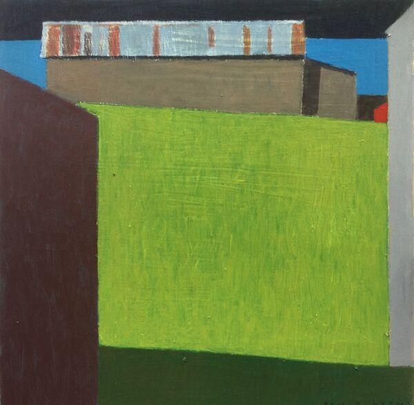 Barn and blue sea 40x40cm inc frame £425